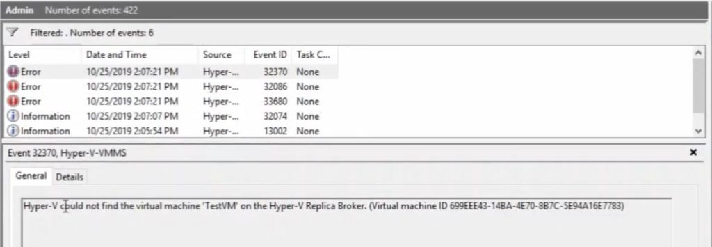 Hyper-V could not find the virtual machine