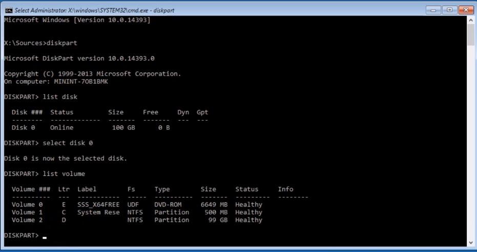 Hyper-V virtual machine command prompt