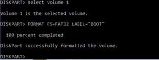 Convert NTFS to FAT32 ans assign drive letter to boot drive in virtual machine