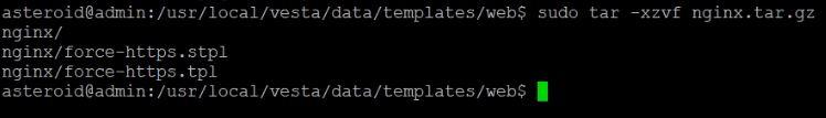 extract nginx HTTPS package in vestacp
