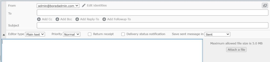Roundcube default email attachment size in vesta.