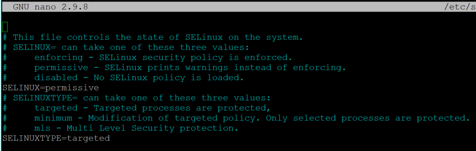 SELinus enforcing to permissive in CentOS 8