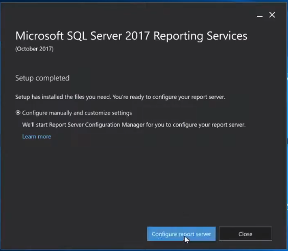 Configure SSRS report server
