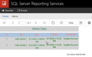 report in report server