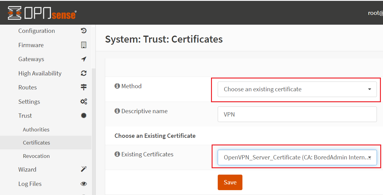 assign certificate to the user or group