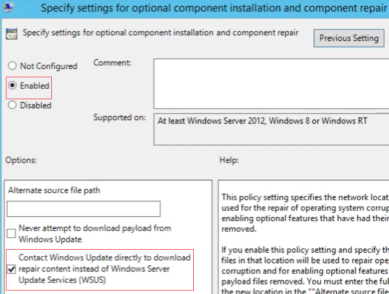 configure group policy